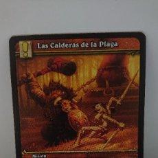 Juegos Antiguos: CARTA WORLD OF WARCRAFT LAS CALDERAS DE LA PLAGA CARTA Nº 319 / 319 EN ESPAÑOL. Lote 254837655