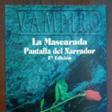 Juegos Antiguos: PACK MUNDO DE TINIEBLAS - PANTALLA DEL NARRADOR VAMPIRO LA MASCARADA Y 3 MÓDULOS AMPLIACIÓN. Lote 254946340