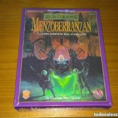 Juegos Antiguos: CAJA MENZOBERRANZAN REINOS OLVIDADOS ZINCO ADVANCED DUNGEONS & DRAGONS ROL PRECINTADO. Lote 257581655