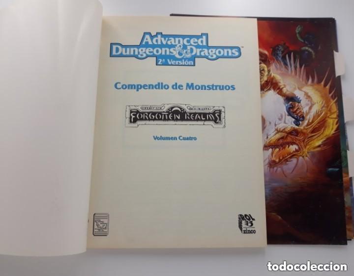 COMPENDIO DE MONSTRUOS VOLUMEN IV 4 REINOS OLVIDADOS AD&D ROL TSR ZINCO REF. 403 (Juguetes - Rol y Estrategia - Juegos de Rol)