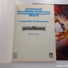 Juegos Antiguos: COMPENDIO DE MONSTRUOS VOLUMEN IV 4 REINOS OLVIDADOS AD&D ROL TSR ZINCO REF. 403. Lote 257584095