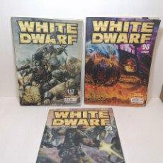 Juegos Antiguos: LOTE REVISTAS WHITE DWARF EL SEÑOR DE LOS ANILLOS N 98,117 Y 99 EDIT. GAMES WORKSHOP. Lote 260873285
