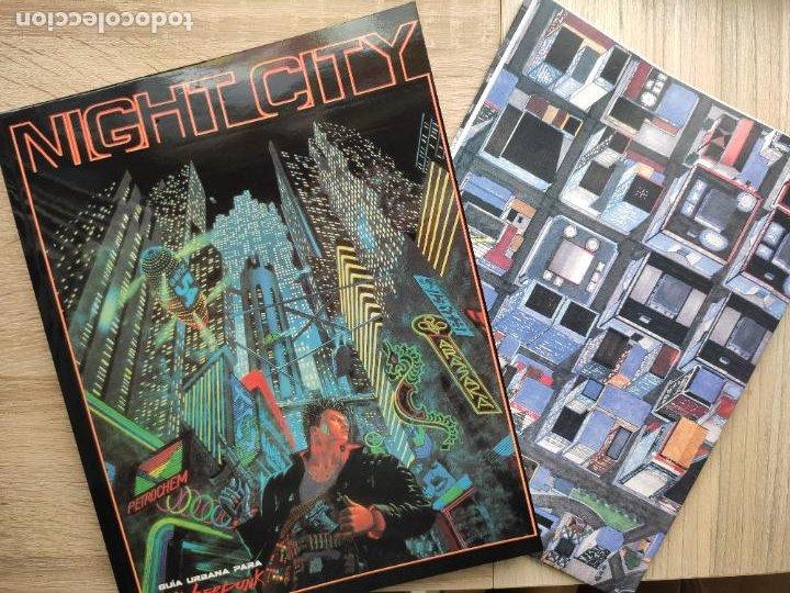 Juegos Antiguos: NIGHT CITY. PARA EL JUEGO DE ROL CYBERPUNK 2.0.2.0. M+D. NUEVO. INCLUYE MAPA GIGANTE A COLOR. - Foto 2 - 261555475