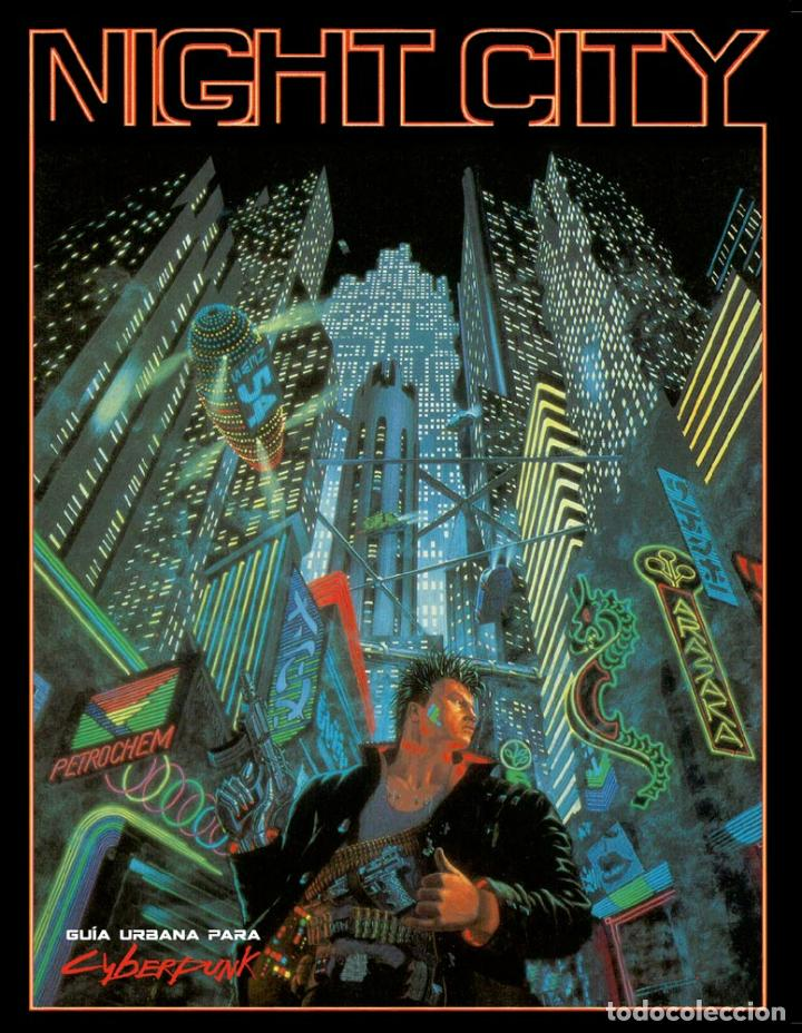 NIGHT CITY. PARA EL JUEGO DE ROL CYBERPUNK 2.0.2.0. M+D. NUEVO. INCLUYE MAPA GIGANTE A COLOR. (Juguetes - Rol y Estrategia - Juegos de Rol)