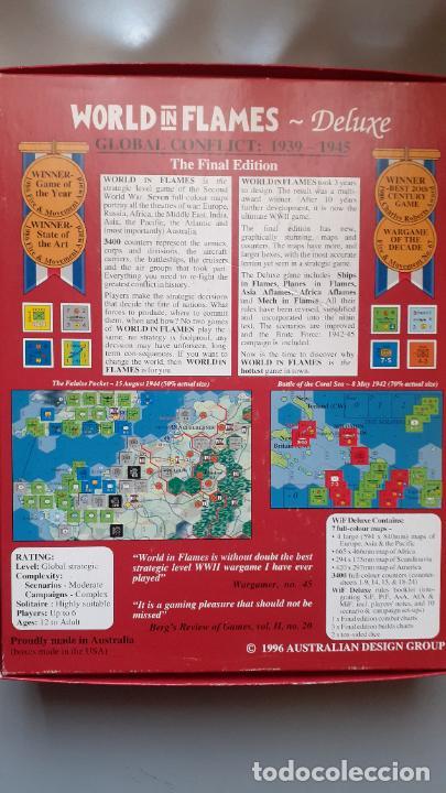 Juegos Antiguos: wargame world in flames, ADG - Foto 4 - 266537008