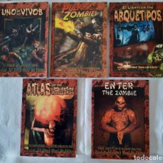 Jeux Anciens: ZOMBIE: ALL FLESH MUST BE EATEN - LOTE 5 LIBROS + PANTALLA + MODULO - ESPAÑOL. Lote 269968488