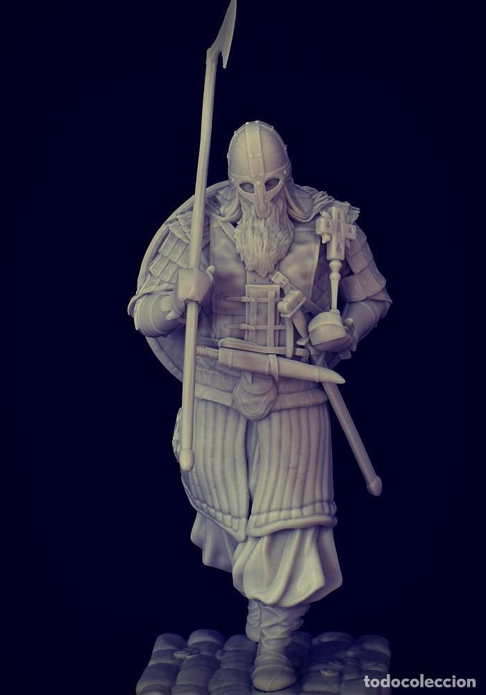 Juegos Antiguos: VIKING RAID. Vikingo. FIGURA DE ESCALA 70 MM KIT DE RESINA PARA MONTAR Y PINTAR. NUEVO. NOCTURNA. - Foto 4 - 270405363