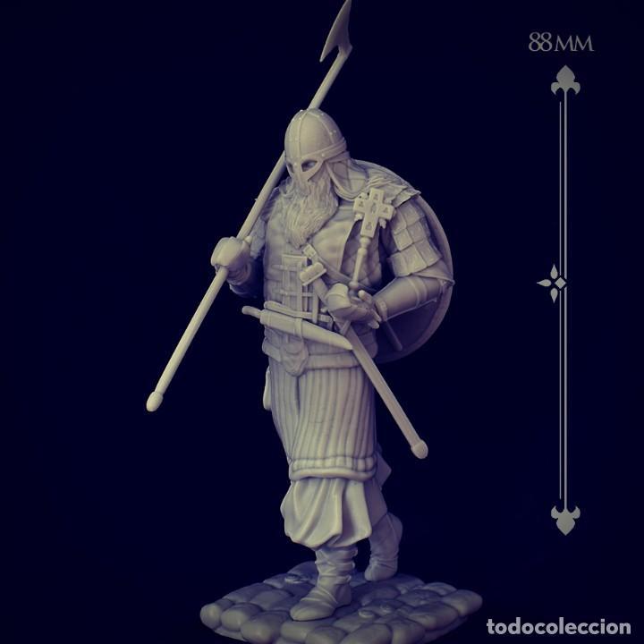 Juegos Antiguos: VIKING RAID. Vikingo. FIGURA DE ESCALA 70 MM KIT DE RESINA PARA MONTAR Y PINTAR. NUEVO. NOCTURNA. - Foto 8 - 270405363