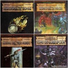 Juegos Antiguos: WARHAMMER EL JUEGO DE ROL LOTE DE 4 SUPLEMENTOS EDGE NUEVOS. Lote 270517263