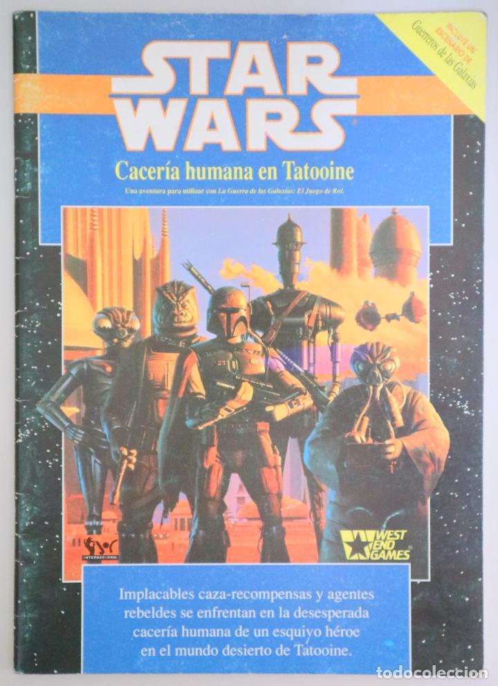 SLAVICSEK, BILL - GREENBERG, DANIEL - STAR WARS. CACERÍA HUMANA EN TATOOINE - BARCELONA 1991 - ILUST (Juguetes - Rol y Estrategia - Juegos de Rol)