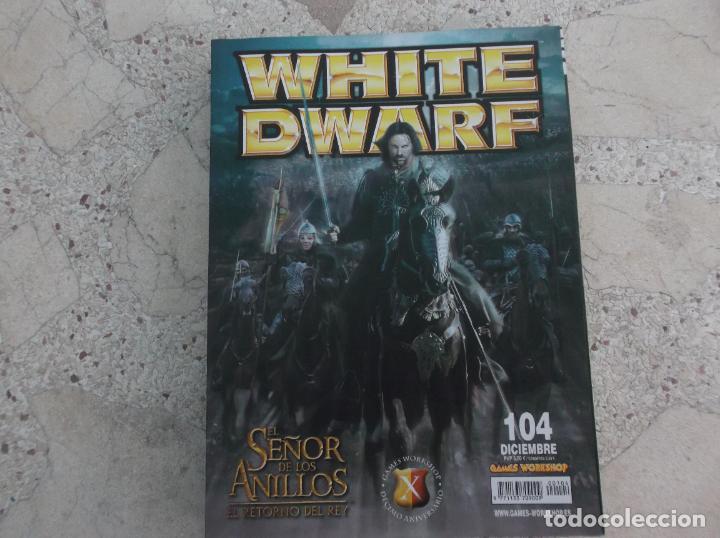 WHITE DWARF Nº 104, EL RETORNO DEL REY, TACTICAS DE LOS ELFOS SILVANOS, VALTEN EL ELEGIDO DE SIGMAR (Juguetes - Rol y Estrategia - Otros)