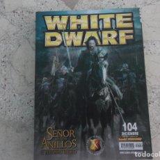 Juegos Antiguos: WHITE DWARF Nº 104, EL RETORNO DEL REY, TACTICAS DE LOS ELFOS SILVANOS, VALTEN EL ELEGIDO DE SIGMAR. Lote 275666238