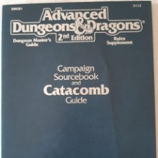 Juegos Antiguos: ADVANCED DUNGEONS & DRAGONS: CAMPAIGN SOURCEBOOK AND CATACOMB GUIDE - INGLES. Lote 277285748