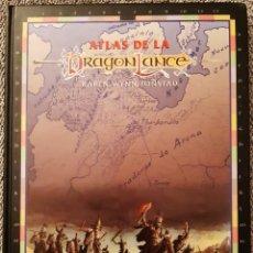 Juegos Antiguos: ATLAS DE LA DRAGONLANCE - TIMUN MAS - AD&D. Lote 277289168