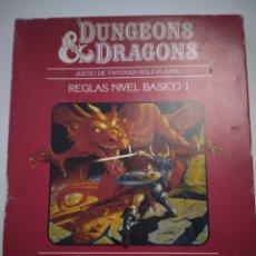 Juegos Antiguos: DUNGEONS & DRAGONS. REGLAS NIVEL BÁSICO 1. 1983. DALMAU CARLES PLA. MUY DIFÍCIL DE ENCONTRAR.. Lote 277308453