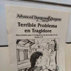 Juegos Antiguos: TERRIBLE PROBLEMA EN TRAGIDORE ADVANCED DUNGEONS & DRAGONS 2ª EDICION - EDICIONES ZINCO. Lote 277571523