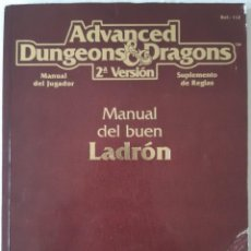 Juegos Antiguos: ADVANCED DUNGEONS & DRAGONS: MANUAL DEL BUEN LADRON - ZINCO. Lote 277586223