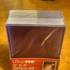 """Juegos Antiguos: FUNDAS RÍGIDAS PARA CARDS CAJA DE 25 UDS - ULTRA PRO TOPLOADER 3""""X 4"""" REGULAR .. Lote 277691608"""