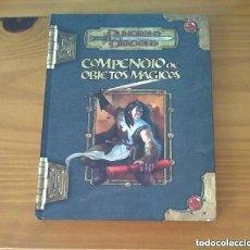 Juegos Antiguos: COMPENDIO DE OBJETOS MÁGICOS D&D 3.5 SUPLEMENTO DE ROL DUNGEONS AND DRAGONS DEVIR MUY DIFÍCIL. Lote 278758698