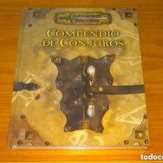 Juegos Antiguos: COMPENDIO DE CONJUROS D&D 3.5 SUPLEMENTO DE ROL DUNGEONS AND DRAGONS DEVIR PRECINTADO MUY DIFÍCIL. Lote 278758988