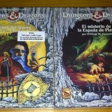 Juegos Antiguos: DUNGEONS AND & DRAGONS EL MISTERIO DE LA ESPADA DE PLATA + LA GRIETA DEL TRUENO BORRAS PRECINTADO. Lote 278759173