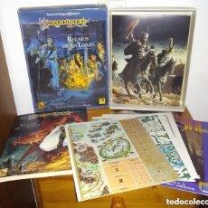 Juegos Antiguos: ADVANCED DUNGEONS & DRAGONS - DRAGONLANCE - CAJA RELATOS DE LA LANZA - JUEGO DE ROL - ZINCO. Lote 278760918