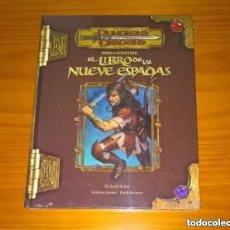 Juegos Antiguos: TOMO DE COMBATE EL LIBRO DE LAS NUEVE ESPADAS D&D 3.5 ROL DUNGEONS AND DRAGONS DEVIR PRECINTADO. Lote 278761708