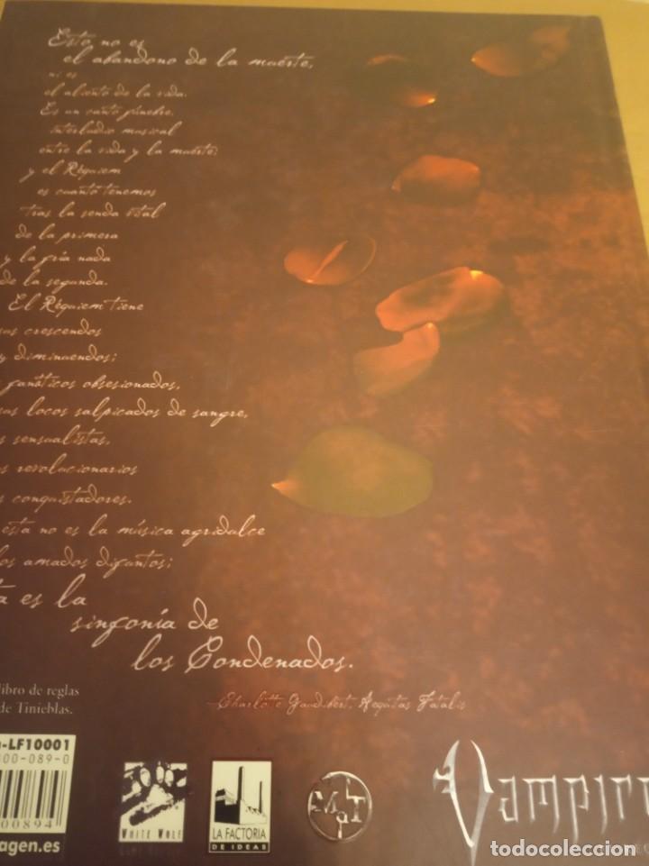 Juegos Antiguos: Vampiro- El Requiem- Libro de rol más pantalla del narrador. En perfecto estado - Foto 6 - 284590503