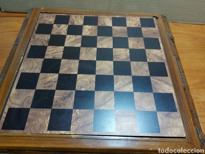 Juegos Antiguos: Escacs Ajedrez Diari De Tarragona años 90 con peon de recambio. Buen estado con algunas marcas - Foto 2 - 286988093