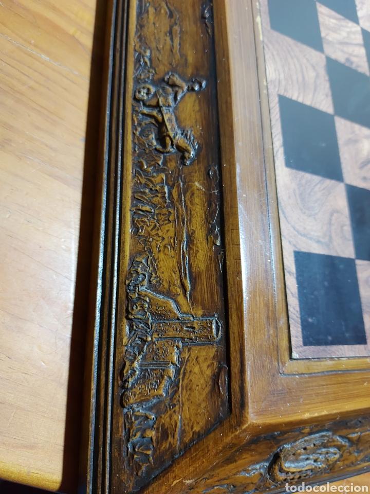 Juegos Antiguos: Escacs Ajedrez Diari De Tarragona años 90 con peon de recambio. Buen estado con algunas marcas - Foto 3 - 286988093