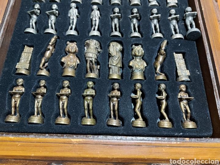 Juegos Antiguos: Escacs Ajedrez Diari De Tarragona años 90 con peon de recambio. Buen estado con algunas marcas - Foto 5 - 286988093
