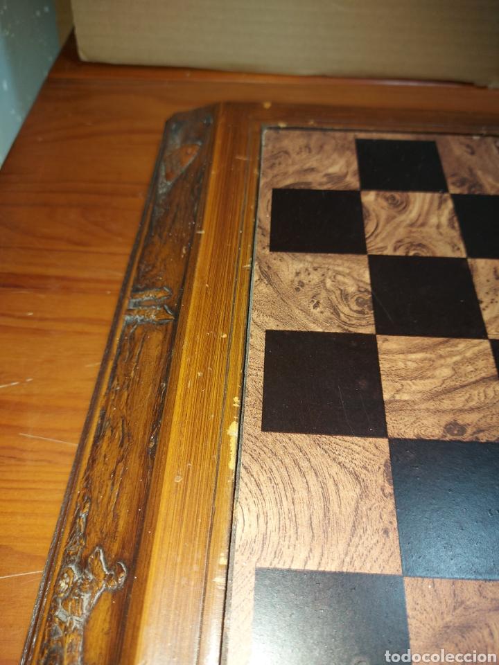 Juegos Antiguos: Escacs Ajedrez Diari De Tarragona años 90 con peon de recambio. Buen estado con algunas marcas - Foto 8 - 286988093