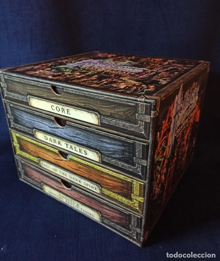 Juegos Antiguos: Juego de mesa FOLKLORE Tehe Afficion con archivador de cajones - Foto 3 - 288081873
