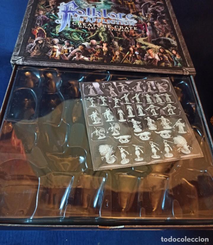 Juegos Antiguos: Juego de mesa FOLKLORE Tehe Afficion con archivador de cajones - Foto 6 - 288081873