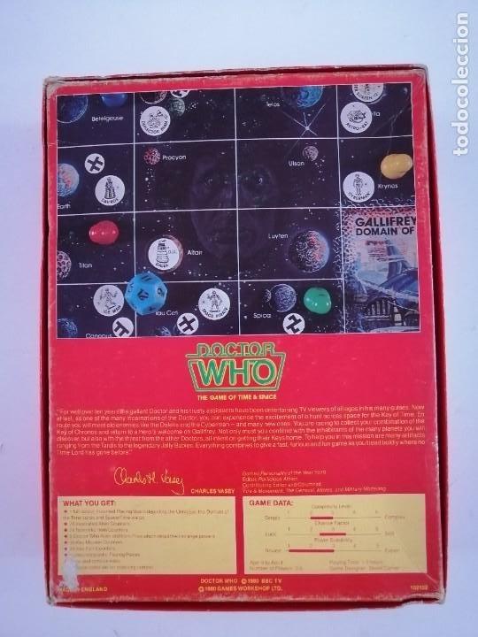 Juegos Antiguos: DOCTOR WHO. EL JUEGO DEL TIEMPO Y DEL ESPACIO. AÑO 1980 - Foto 2 - 288368573