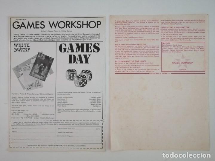 Juegos Antiguos: DOCTOR WHO. EL JUEGO DEL TIEMPO Y DEL ESPACIO. AÑO 1980 - Foto 13 - 288368573
