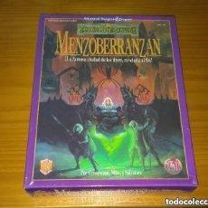 Juegos Antiguos: CAJA MENZOBERRANZAN REINOS OLVIDADOS ZINCO ADVANCED DUNGEONS & DRAGONS ROL PRECINTADO. Lote 288733778
