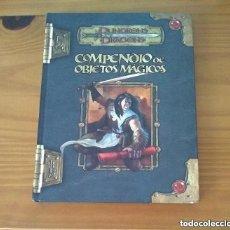 Juegos Antiguos: COMPENDIO DE OBJETOS MÁGICOS D&D 3.5 SUPLEMENTO DE ROL DUNGEONS AND DRAGONS DEVIR MUY DIFÍCIL. Lote 288735018