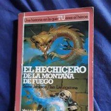 Juegos Antiguos: EL HECHICERO DE LA MONTAÑA DE FUEGO. LIBRO JUEGO, ALTEA JUNIOR. LUCHA FICCION 1. Lote 288946658