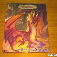 Juegos Antiguos: DRACONOMICON EL LIBRO DE LOS DRAGONES D&D 3.5 SUPLEMENTO ROL DUNGEONS AND DRAGONS DEVIR. Lote 293675563