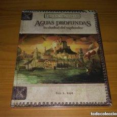 Juegos Antiguos: AGUAS PROFUNDAS REINOS OLVIDADOS D&D 3.5 DUNGEONS AND DRAGONS ROL DEVIR PRECINTADO MUY DIFICIL. Lote 293675718