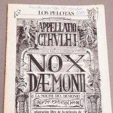 Juegos Antiguos: ALEX DE LA IGLESIA - NOX DEMONI - CTHULHU - MODULO MITICO - 50 EJEMPLARES - FIRMADO - 1988. Lote 293762323