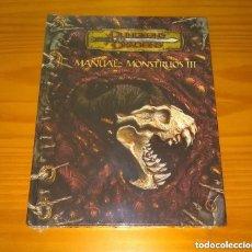 Juegos Antiguos: MANUAL DE MONSTRUOS III 3 D&D 3.5 SUPLEMENTO DE ROL DUNGEONS AND DRAGONS DEVIR PRECINTADO. Lote 293844398