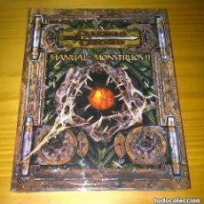 Juegos Antiguos: MANUAL DE MONSTRUOS II 2 D&D 3.5 SUPLEMENTO DE ROL DUNGEONS AND DRAGONS DEVIR PRECINTADO. Lote 295396663