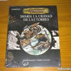 Juegos Antiguos: EBERRON SHARN: LA CIUDAD DE LAS TORRES D&D 3.5 SUPLEMENTO ROL DUNGEONS AND DRAGONS DEVIR PRECINTADO. Lote 295396803