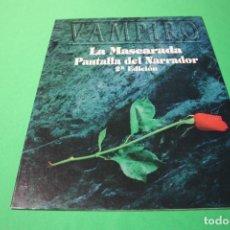 Juegos Antiguos: LIBRO DE ROL: VAMPIRO LA MASCARADA. CONTACTOS Y VÍCTIMAS + PANTALLA DEL NARRADOR 2ª ED (LA FACTORÍA). Lote 295507763