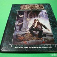 Juegos Antiguos: LIBRO DE ROL: VAMPIRO LA MASCARADA. GUÍA DEL JUGADOR (LA FACTORÍA). Lote 295507968
