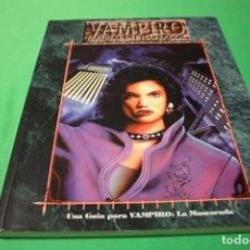 Juegos Antiguos: LIBRO DE ROL: VAMPIRO LA MASCARADA. MANUAL DEL NARRADOR (LA FACTORÍA). Lote 295509043