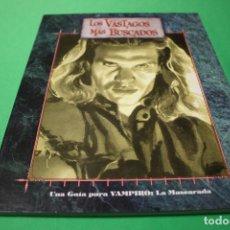 Juegos Antiguos: LIBRO DE ROL: VAMPIRO LA MASCARADA. LOS VÁSTAGOS MÁS BUSCADOS (LA FACTORÍA). Lote 295510468