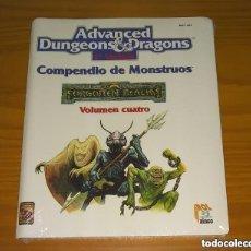 Juegos Antiguos: COMPENDIO DE MONSTRUOS VOLUMEN IV 4 REINOS OLVIDADOS AD&D ROL TSR ZINCO REF. 403 PRECINTADO. Lote 295650308